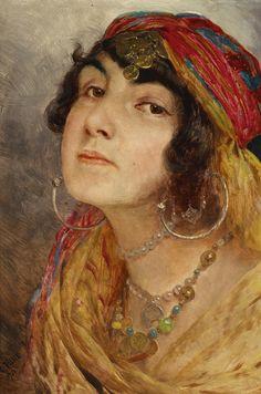Otto Pilny 1866-1936 Portrait of an Oriental Woman