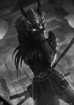 Female predator ——Shogun Warrior , mist XG on ArtStation at… Alien Vs Predator, Predator Alien, Predator Cosplay, Apex Predator, Fantasy Characters, Female Characters, Female Yautja, Samurai Art, Monster Art