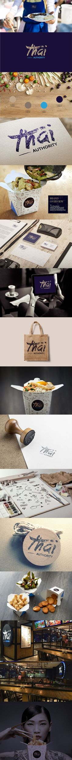 Awesome branding project from Thai Authority Restaurant on Behance by Agata Dondzik. #branding:
