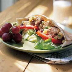 fruity tuna-salad pita sandwiches recipe