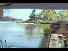 "Paint Along with Larry Hamilton- April 26, 2013 - Watercolor-""Tetons Fishing"" - YouTube"
