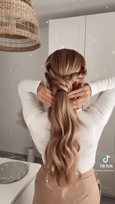 Work Hairstyles, Easy Hairstyles For Long Hair, Wedding Hairstyles, Braided Hairstyles, Hair Extension Hairstyles, Date Night Hairstyles, Picture Day Hairstyles, Medium Hair Hairstyles, Waitress Hairstyles