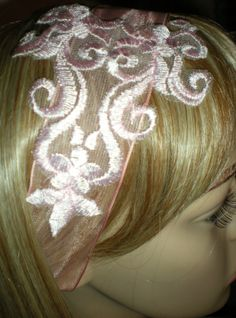 Lace Flower Applique Headband Bridal Fascinator by Scarflovely, $12.00