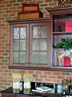 Decorative Glass Solutions :: Custom Stained Glass & Custom Leaded Glass Windows, Doors and More. Kitchen Design Small, Glass Decor, House Design, Glass Cabinet Doors, Kitchen Pantry Design, Oak Kitchen Cabinets, Custom Stained Glass, Glass Kitchen Cabinets, Kitchen Cabinets