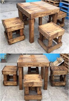 We are sure that catching with this incredible creation of the wood pallet stylish table and stools design will give you a luxurious feel. It has been flavoured with the modern arrangement just as over the back and berth. It is simply a majestic creation piece of the wood pallet for the beauty of your house.