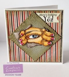 Card made using Sheena Douglass A Little bit Sketchy -Guess who stamp set. Coloured with Spectrum Noir Markers-DR1,3,5-FS4-TN2,3,4-TB2,4-BG3,5,7 Designed by Laney Delaney #crafterscompanion #spectrumnoir