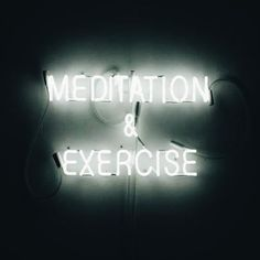 Meditation & Exercise: Say it in neon so it sticks. Neon Light Signs, Neon Signs, Neon Quotes, Meditation Exercises, All Of The Lights, Neon Aesthetic, Neon Glow, Yoga, Neon Lighting