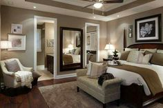 46 Modern And Romantic Master Bedroom Design Ideas. If you are tired of your master bedroom, you can incorporate a few changes that make a big difference. Master Bedroom Interior, Dream Bedroom, Home Decor Bedroom, Master Bedrooms, Diy Bedroom, Bedroom Colors, Cozy Master Bedroom Ideas, Bedroom Romantic, Brown Master Bedroom