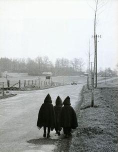 Walking to school in 1954!