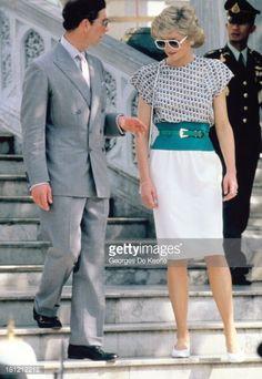 February 4, 1988: Princess Diana visits The Emerald Buddha Temple in Bangkok.
