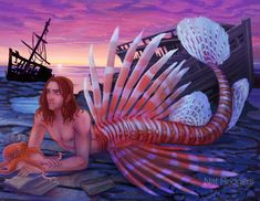 Caleb Widogast Merman 8.5 x 11 print | Etsy Liam O Brien, Twitter Polls, Broody, Critical Role Fan Art, Merman, New Art, Libraries, Octopus, Prints
