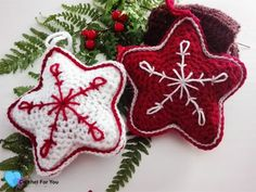 This Christmas Crochet Star pattern is a part of the Christmas Ornament Mini CAL (Crochet- A - Long). Each pattern in this CAL requires less than 30 yards.