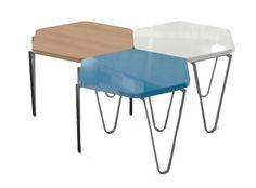 Hexagonal Side Table (single) Oak veneer by Niche London