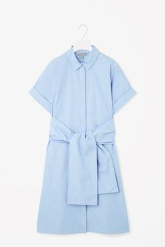 Shirt dress with chunky tie