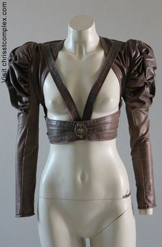 Steampunk Bolero Harness Cosplay Gothic Bridal Wedding Leather ette - Andru Chrisst - EXPRESS SHIPPING UPGRADE. $329.00, via Etsy.
