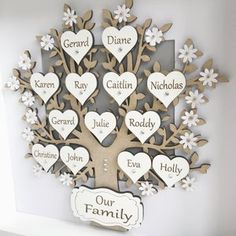 Family Tree Images, Family Tree Frame, Gifts For Mum, Gifts For Family, Family Tree Crafts, Personalised Family Tree, Personalized Gifts, Personalised Frames, Tree Box