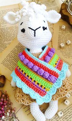 Crochet Amigurumi Free Patterns, Afghan Crochet Patterns, Free Crochet, Crochet Bunny, Crochet Dolls, Llamas, Knitted Stuffed Animals, Crochet Designs, Crochet Projects