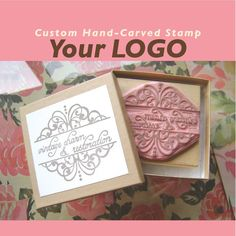 Found this on Etsy made by brownpigeon  Great if you are looking for a handmade personalized stamp