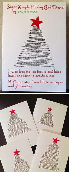 50 Υπέροχες χριστουγεννιάτικες κάρτες που θα φτιάξετε μόνοι σας! | Φτιάξτο μόνος σου - Κατασκευές DIY - Do it yourself