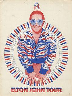 Elton John concert poster
