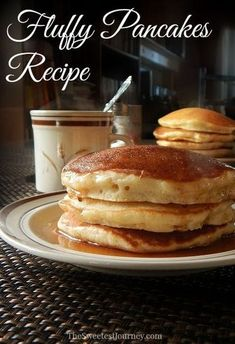 The Sweetest Journey — Fluffy Pancakes Recipe After several tries. How to Make Fluffy Pancakes From Scratch Breakfast Desayunos, Breakfast Dishes, Breakfast Recipes, Pancake Recipes, Dinner Recipes, Pancake Recipe With Baking Soda, Pancake Recipe With Vanilla Extract, Pancake Recipe With Self Rising Flour, Pancake Recipe Using Bisquick