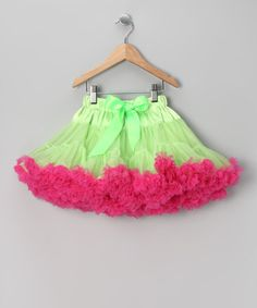 Take a look at this Lime & Hot Pink Pettiskirt - Infant, Toddler & Girls by Petti Posh on #zulily today!