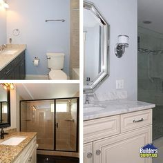We don't just help you to#remodelyour #home! These #bathrooms were done in a new construction home & were completed with in stock products from our Newport Store! Interested in designing a space for your new construction home? Click the link in our bio to set up a #design appointment with one of our talented #InteriorDesigners!#InteriorDesign#KitchenRemodel #HomeImprovement #BathRemodel #Renovation #BathroomRenovation #Interior4All #Bath #BathDesign #homerenovation #homeremodel #newhome…
