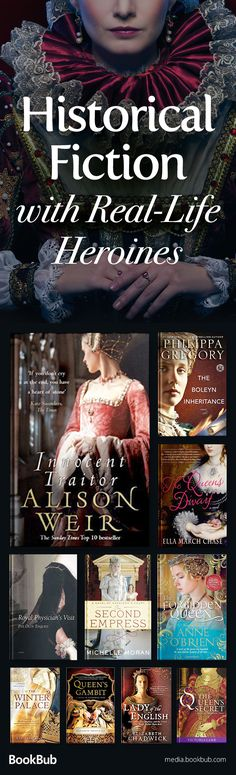 Great historical fiction books based on true tales of real-life heroines. Including a mix of books featuring plenty of suspense, romance, and more.