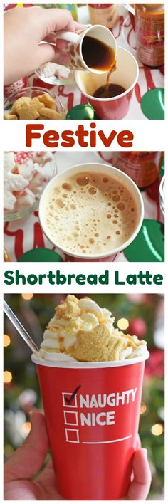 Great Shortbread Latte recipe + Learn how to put together the perfect Holiday Coffee / Hot Cocoa Bar.  With Torani, anything's possible!