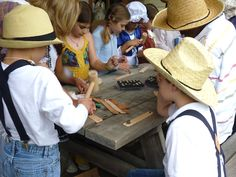 Pioneer Days!  Biscuit making, leather stamping, and more