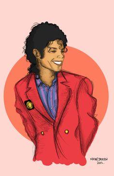 Michael Jackson Bad Era Drawing.