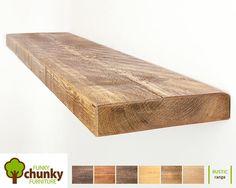Rustikale schwimmende Regale  Massiv Holz Wandregal  225 cm