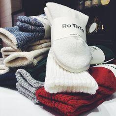 #IROZA #madeinjapan  #rototo #socks #wool #warm #white#navy#green#gray#red by iroza_press