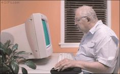 New trending GIF on Giphy funny man technology old windows linda funny gif old man delete feat olds my computer Computer Humor, Der Computer, Les Joies Du Code, Dank Gifs, Old Computers, Humor Grafico, Pause, Old Men, Funny People