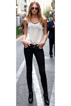 524669cc903 Discover this look wearing Black Jeans - Simple fashion by Fancyic styled  for Casual