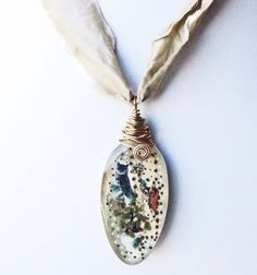 Recycled Vintage Spoon Resin Necklace Owl Collage Eco by Readesign, $35.00