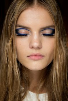 Kate Grigorieva backstage at Atelier Versace Couture Spring 2015