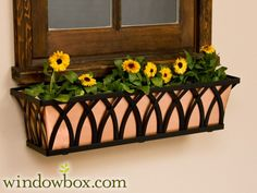 Window box for dormer in garage