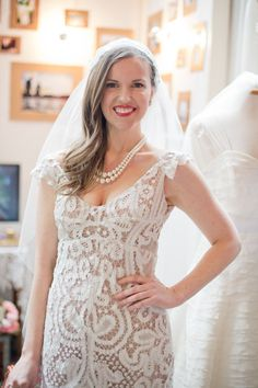 Battenberg Gown by Mignonette Bridal.  Cotton tape lace with silk charmeuse lining.   $3,000