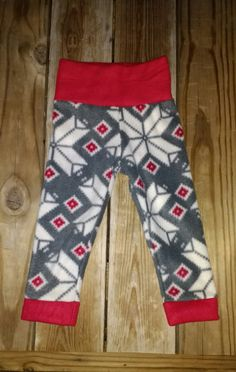 Toddler Baby Kids Fleece Longies Pants Pajamas Christmas Snowflake Soft 3M 6M 9M 12M 18M 2T 3T 4T 5T 6 8 - Cloth Diaper Friendly by CherubCheekBoutique on Etsy
