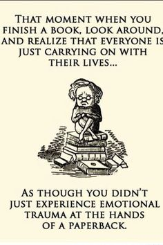 Call it a literary hangover.