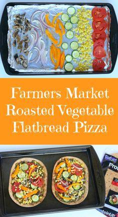 Roasted Veggie Flat Bread Recipe — Dishmaps