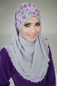 Embroidered Hijab Designs 2015 For Muslim Girls Muslim Women Fashion, Islamic Fashion, Hijab Outfit, Hijab Collection, Muslim Dress, Modest Wear, Hijab Tutorial, Muslim Girls, How To Wear Scarves