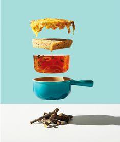 Flavor combo recipes  Michael Crichton conceptual food photography
