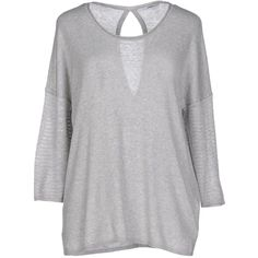 Only Jumper ($32) ❤ liked on Polyvore featuring tops, sweaters, light grey, jumper top, 3/4 sleeve tops, three quarter sleeve tops, 3/4 sleeve sweaters and jumpers sweaters