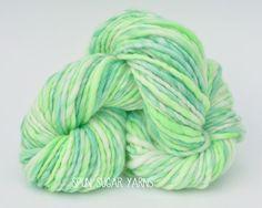 yarn, hand spun, yarntastic, fiber, hand painted, handspun, happy, happy place, fiber, knit, crochet, merino, felt, bfl, spin, spun, lime, green,  wool, spunsugaryarns, spun sugar yarns