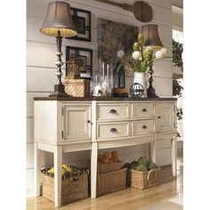 Signature Design by Ashley Whitesburg Sideboard in White & Reviews | Wayfair
