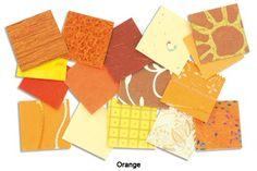 Set d'environ 200 papiers 4x4 Orange