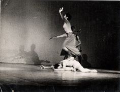 """Williams performing """"Conversation for Three Souls"""" choreographed by Gene Hill Sagan, co-founder of """"Philadanco"""" at the Biennale Nationale de Danse du Val de Marne in Paris, France."""