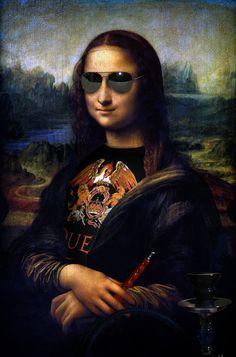 Bd Pop Art, Foto Cartoon, La Madone, Mona Lisa Parody, Mona Lisa Smile, Rock Poster, Renaissance Artists, Many Faces, Jolie Photo